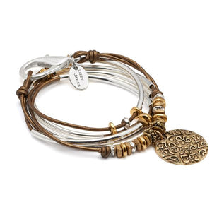 Trixy Bracelet with Gold Ornate Medallion