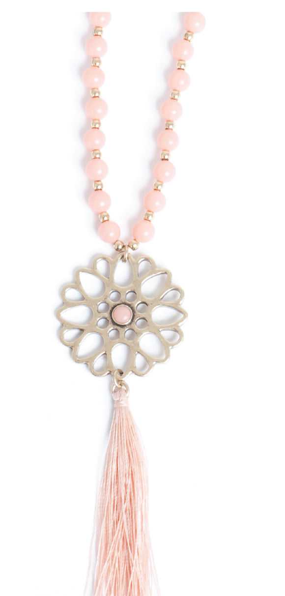 Moroccan  Light Coral Necklace