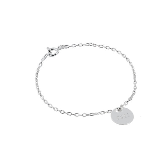 Silver Coin PS23 Bracelet