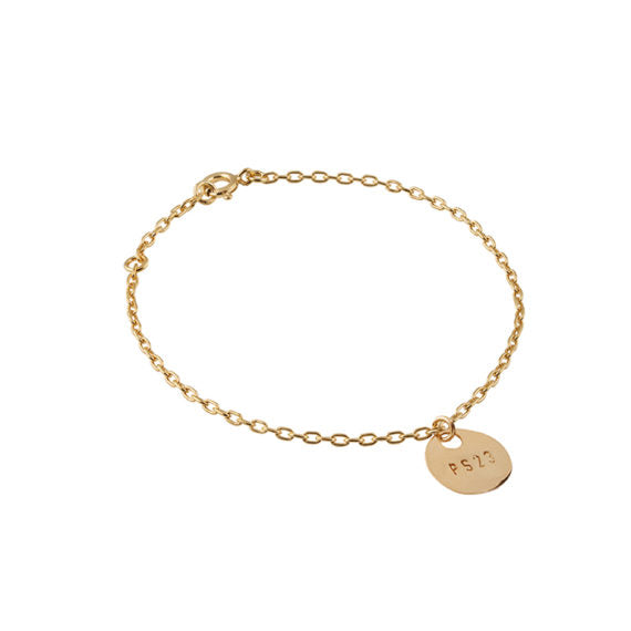 Golden Bronze Coin PS23 Bracelet