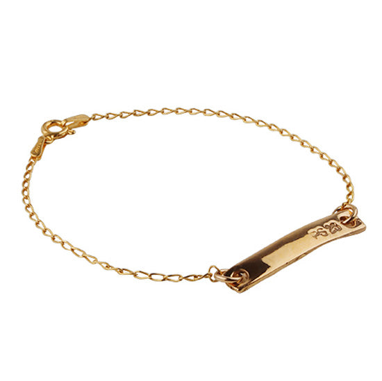 Golden Bronze Thin Tag Bracelet