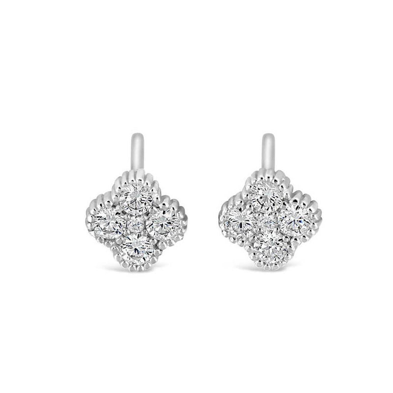 Clover Post Silver Earrings