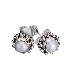 Coco Pearl Silver Earrings