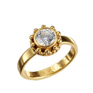 Coco Zircon Gold Ring