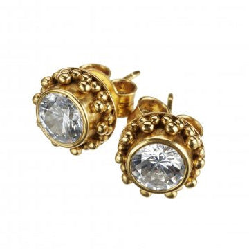 Coco Zircon Gold Earrings