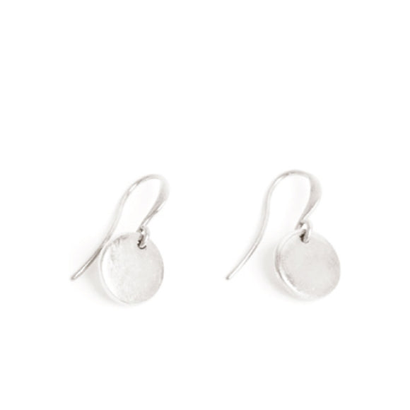 Coin Silver Earrings