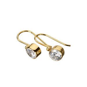 Tahiti Zircon Gold Earrings