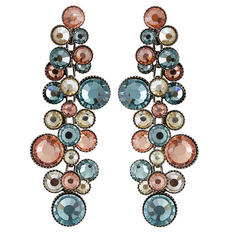 Water Cascade Multi Long Dangle Earrings