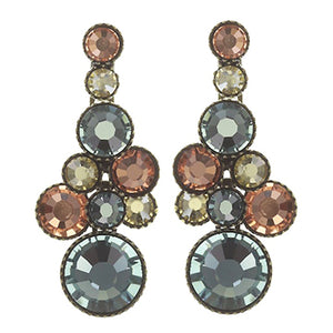 Water Cascade Multi Small Post Dangle Earrings