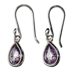Purple Zircon Drops Earrings