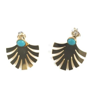 Turquoise Jacket Fan Earrings