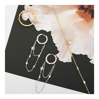 Bohemia Chain Drop Mini Hoop Earrings