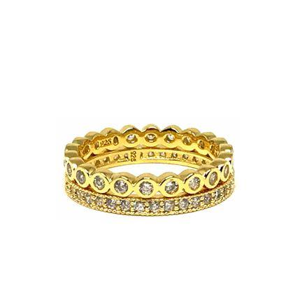 Gold / Crystal Stack Rings