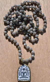Buddha Grey Crystal Necklace