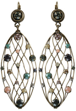 Cages Pastel Multi Dangling Earrings