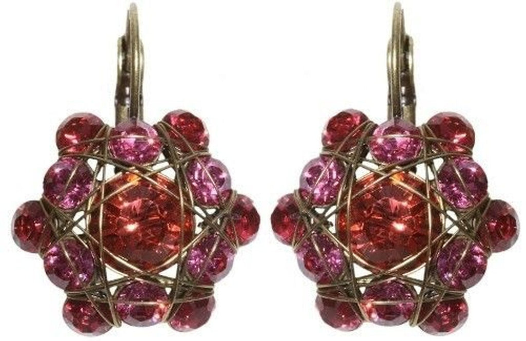 Bended Lights Coralline/Pink Eurowire Earrings