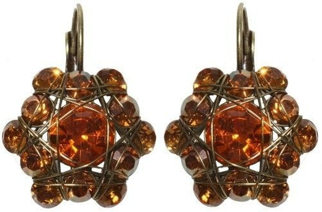 Bended Lights Orange/Yellow Eurowire Earrings