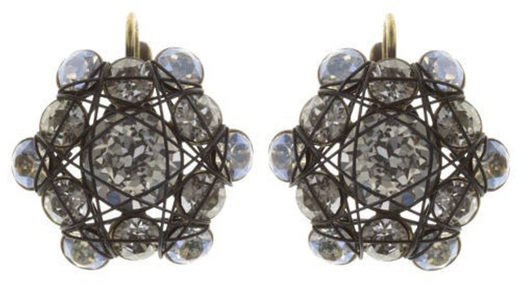 Bended Lights White Eurowire Earrings