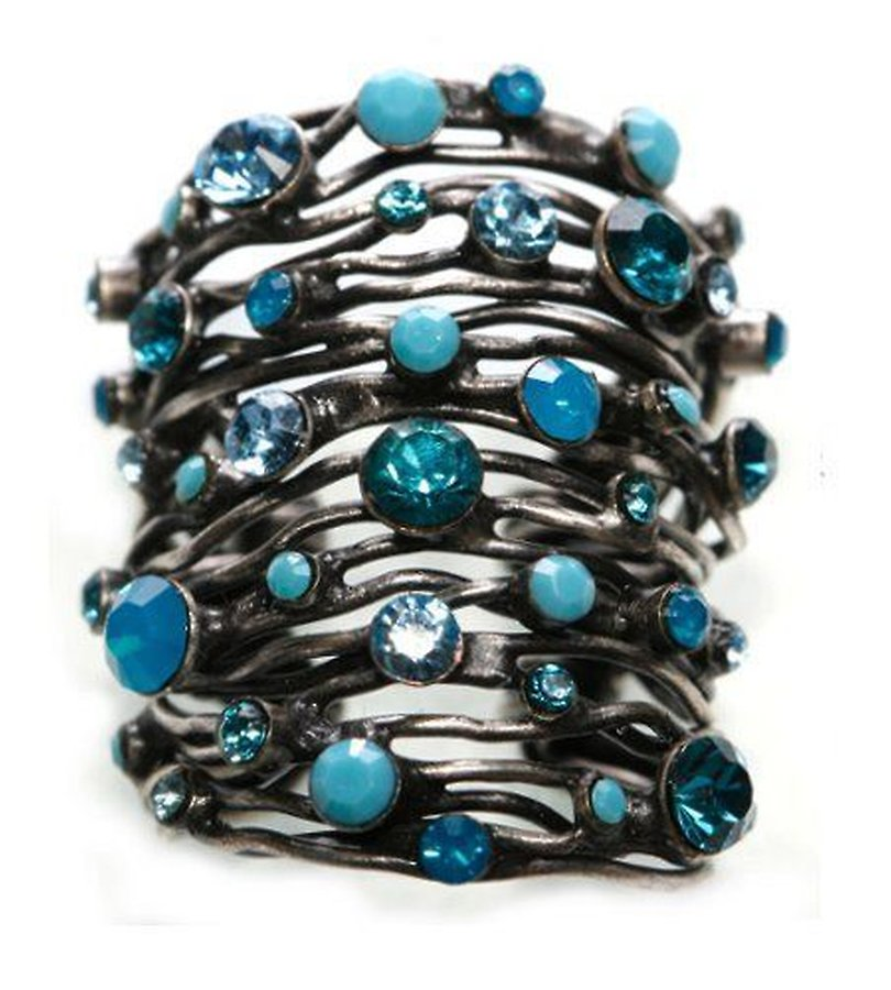 Cages Turquoise Blue Wide Ring