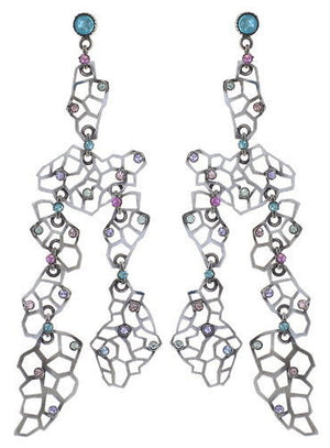 Textures Under the Sea Hyper Pastels Multi Crystal Earring