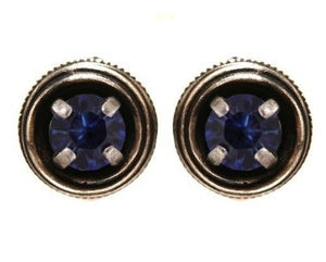 Cages Blue, Sapphire Stud Earrings