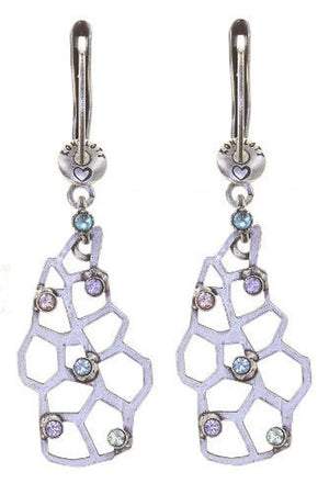 Textures Under the Sea Hyper Pastels Multi Crystal Dangling Earring