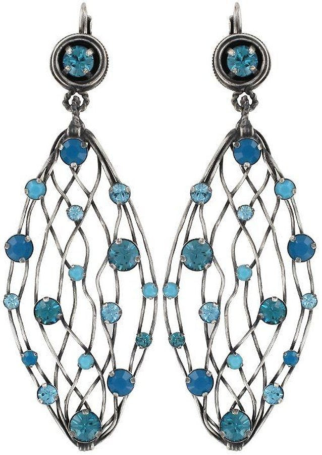 Cages Turquoise Blue Dangling Earrings