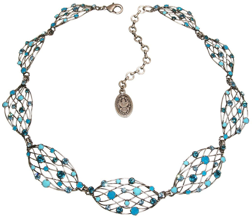 Cages Turquoise Blue Necklace