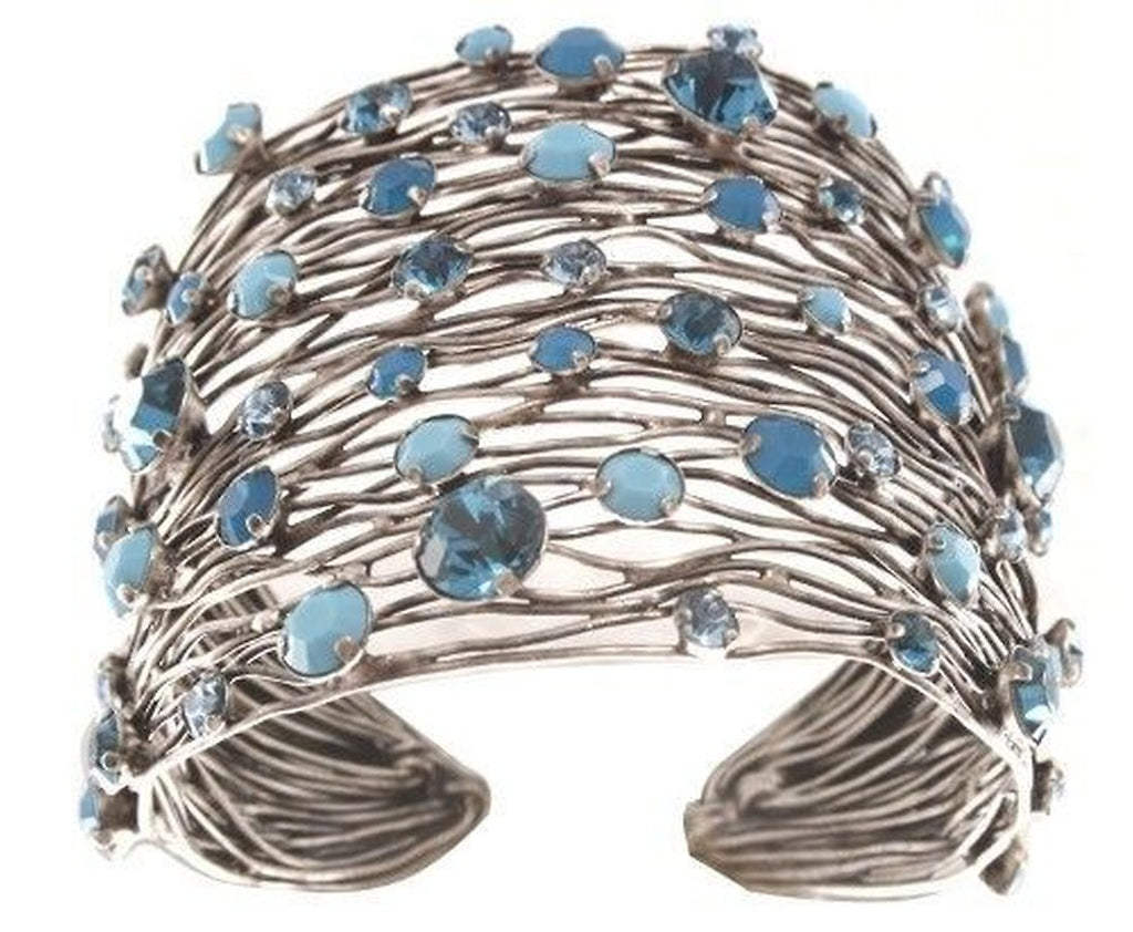 Cages Turquoise Blue Wide Bracelet Cuff