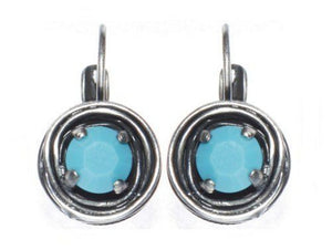 Cages Turquoise Blue, Turquoise Eurowire Earrings