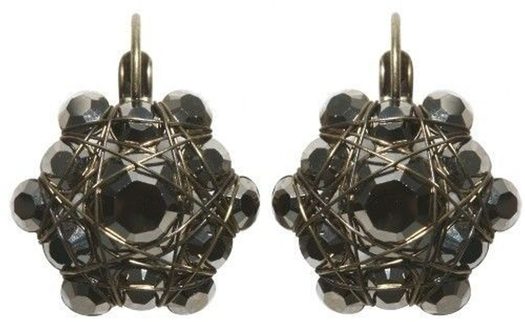 Bended Lights Black Eurowire Earrings