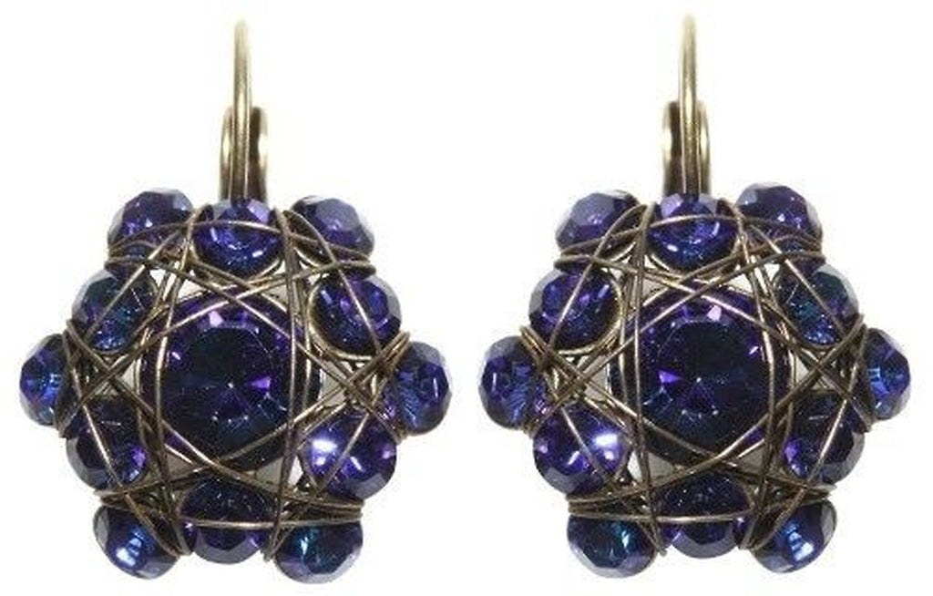 Bended Lights Blue/Lila Eurowire Earrings
