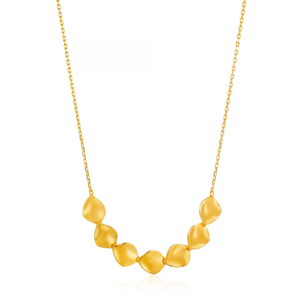 Crush Multiple Discs Gold Necklace