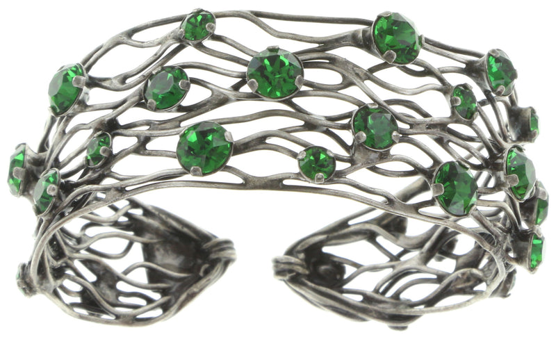 Cages Green Bangle Bracelet