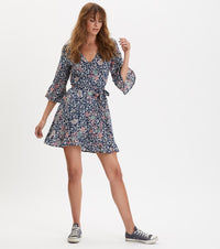 Lush Shake Deep Sea Wrap Dress