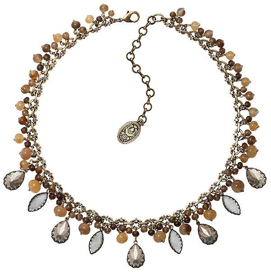 Necklace Earth, Wind & Glamour, White Antique Brass/Lt. Antique Silver