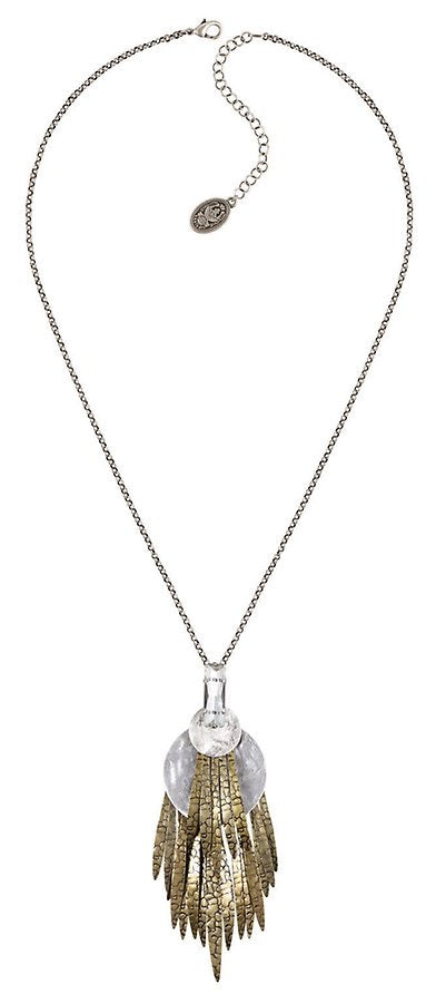 Global Glam Crystal Necklace Pendant (long)