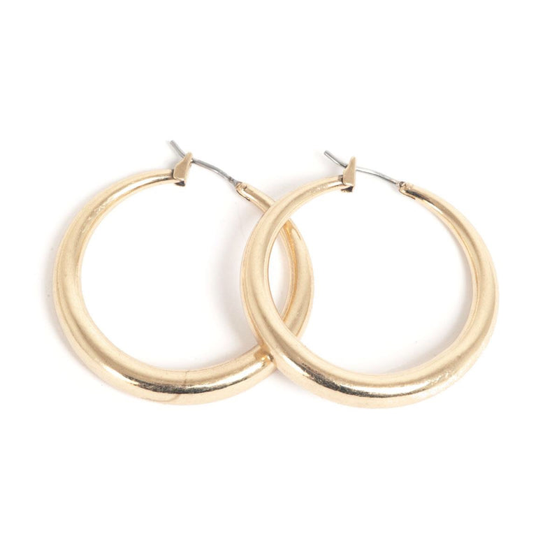 Signature Basic Hoop Bronze Earrings