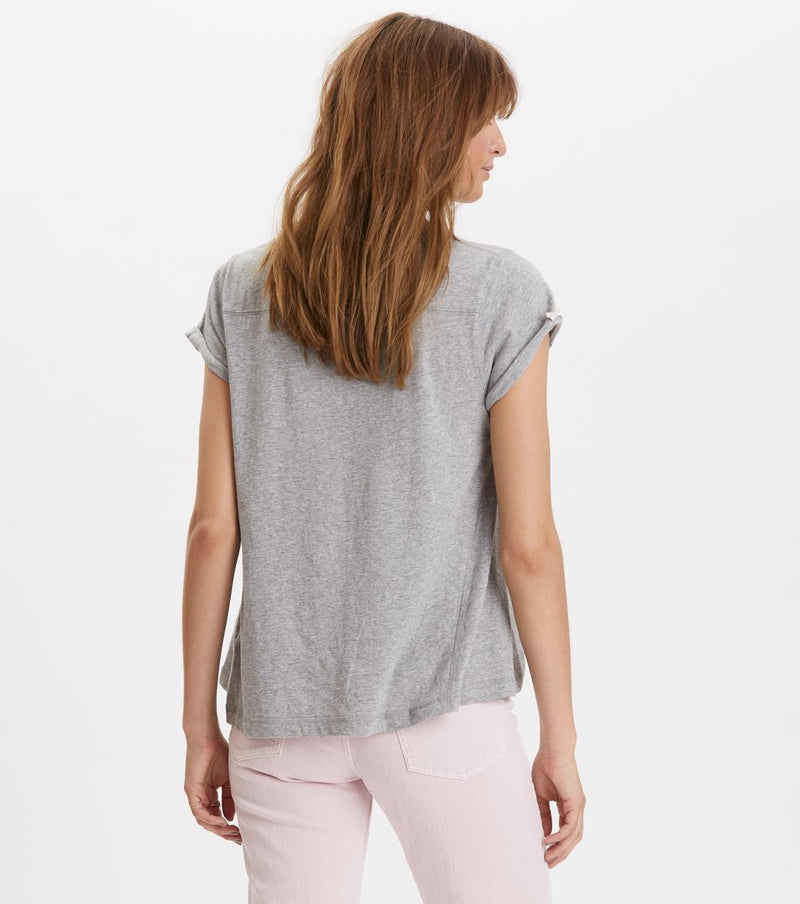 Odd Vibes Light Grey Melange Tee