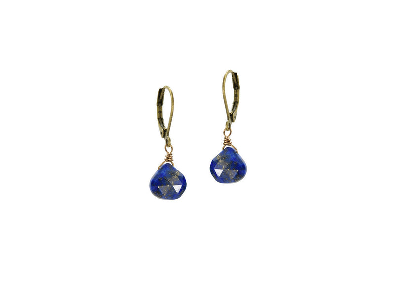 Lapis Pear Drop Earrings
