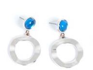 Ocean Blue Silver Earrings