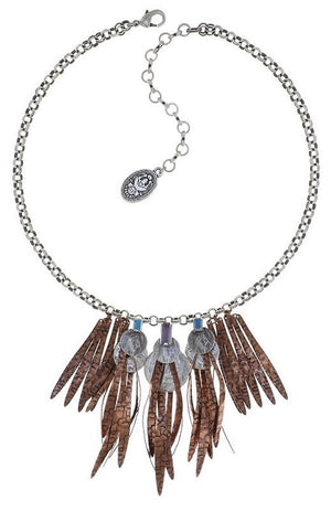 Global Glam Copper Blue Crystal Necklace
