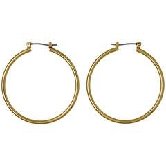 Layla Large Hoop Earrings - Gold