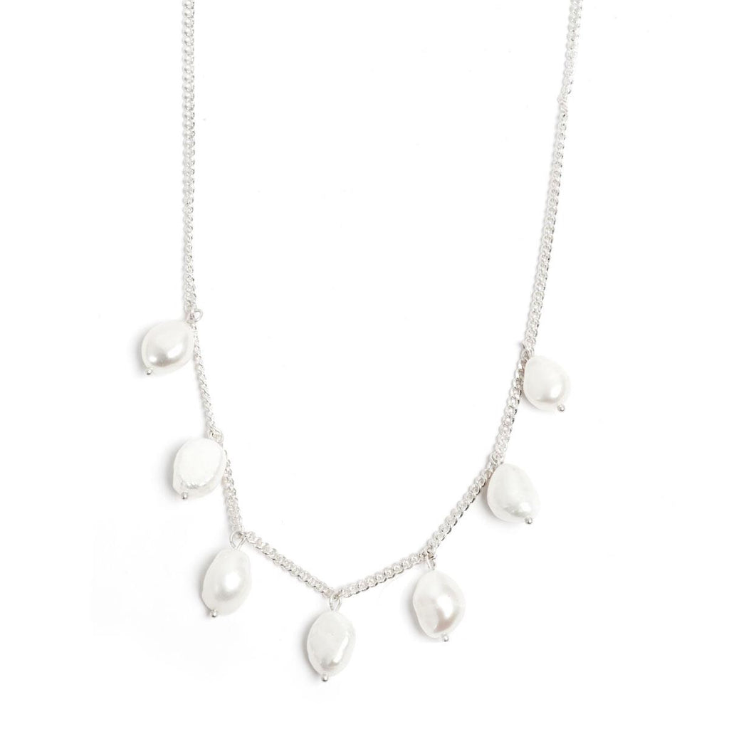 Baroque Pearl Silver Necklace