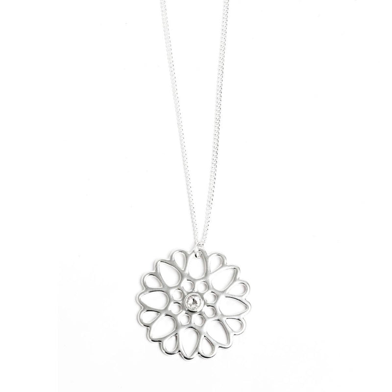 Moroccan Summer Silver Necklace