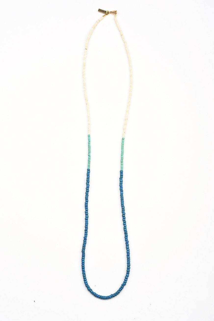 Blue + Turquoise Simple Color Block Necklace