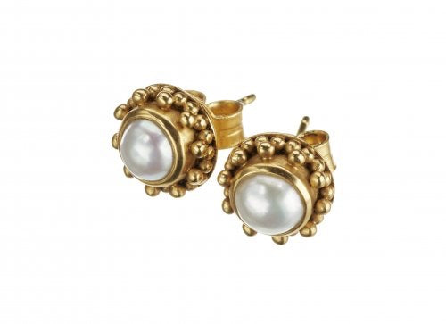 Coco Pearl Gold Earrings