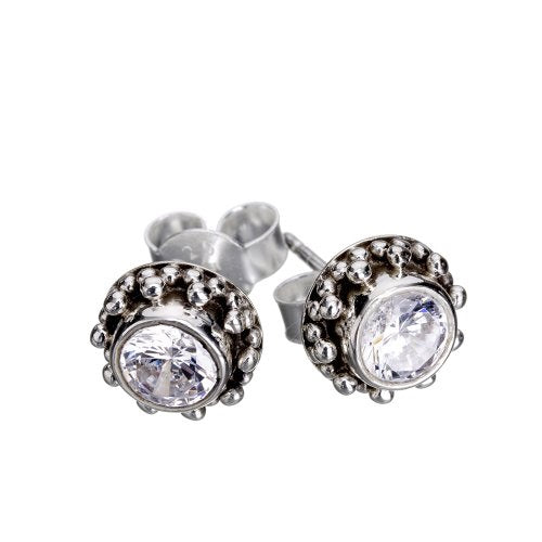 Coco Zircon Silver Earrings