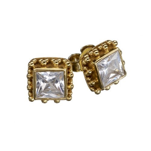 Candy Zircon Gold Earrings