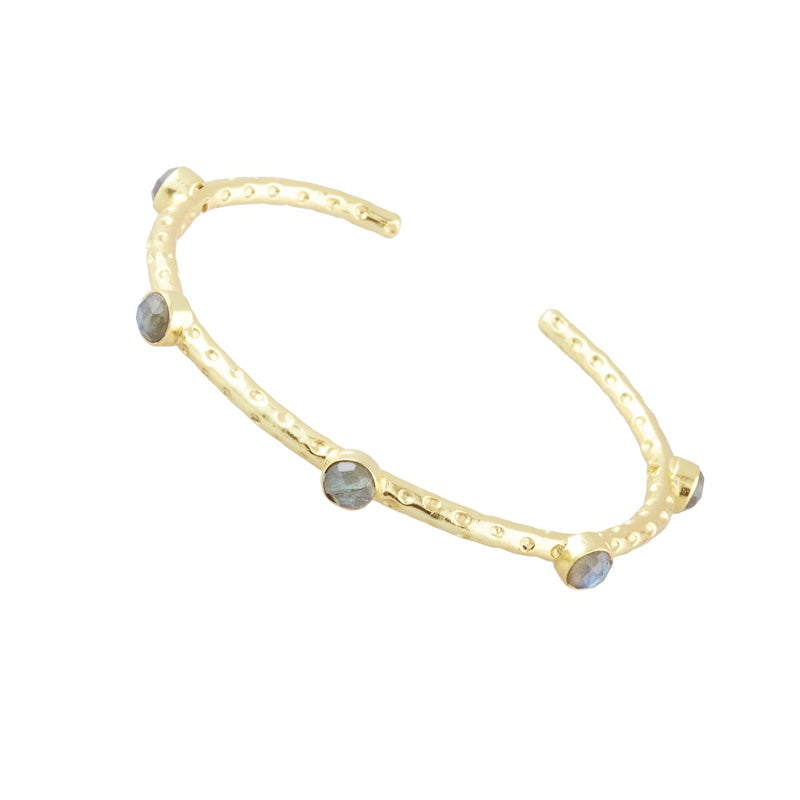 Cruise Five Gemstone Bangle in Labradorite
